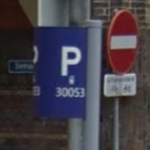voorbeeld van het inzoomen op een parkeerbord in Utrecht